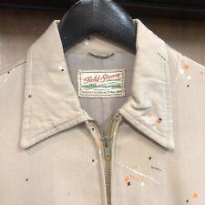 Vintage 1950'S Atomic Pattern Rayon Gabardine 3/4 Rockabilly Jacket - 36