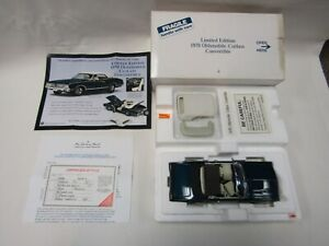 DANBURY MINT 1:24 DIE CAST 1970 OLDSMOBILE CUTLASS CONVERTIBLE TWILIGHT BLUE