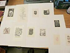 More details for eleven   vintage ex libris  mixed lot 1960s-1980s  incl.marik,cinybulk,dvoracek