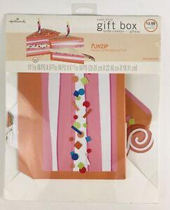 NEW Hallmark FunZip Fun Zip Cake Slice Gift Box Candle Birthday Present