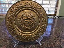 Indian Ganesha Bronze Hammered Plate