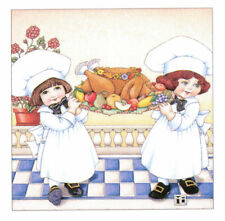 Thanksgiving Turkey Chefs-Handcrafted Fridge Magnet-W/Mary Engelbreit art