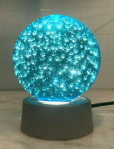3D Transparent Glass Ball Night Light/Paperweight