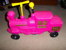 VINTAGE 1969 EMPIRE BLOW MOLD TRAIN RIDE A LONG TOY PINK CHRISTMAS EASTER