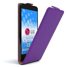 Tasche f. LG Optimus L5 II - E450 / E455 / E460 Flipcase Schutzhülle Etui Lila