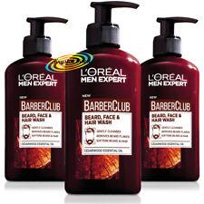 3x Loreal Men Expert Barber Club Beard Face & Hair Wash 200ml