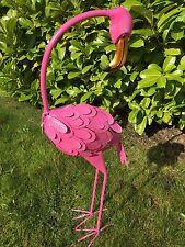 *SALE* Large Metal Freestanding Pink Flamingo Garden Pond Stand Outdoor Ornament