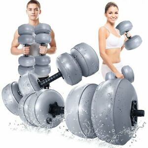 30-35kg Water Filled Dumbbell Adjustable Barbell Weight Train Lifting Fitness A