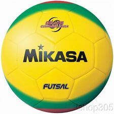 Mikasa FSC450 America Futsal Soccerball Size 4 (Low Bounce) Yellow/Lime/Red