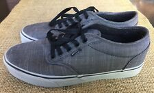Van's Atwood Skate Sneaker Heather Gray Black Laces Men's Size 7 EUC Worn 1-2 x