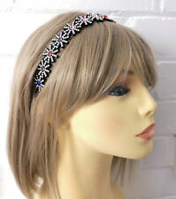 STUNNING 2cm wide starburst coloured diamante plastic headband - aliceband