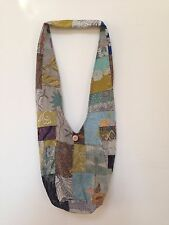 Reversible Hippie Ethnic Sling Bag Shoulder Bag Travel Unisex Batik Patchwork