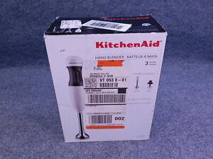 Brand New KitchenAid KHB2351WH 3 Speed Hand Immersion Blender Mixer White