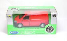 Welly VW Volkswagen Transporter T6 Van Red - 1:34 Brand New In Box