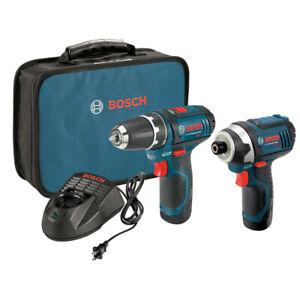 Bosch CLPK22-120 12V Max Li-Ion 2-Tool Combo Kit Certified Refurbished