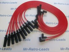 RED 8MM PERFORMANCE IGNITION LEADS FOR DODGE VIPER V10 QUALITY HAND BUILT LEADS.