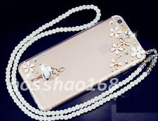 Glitter Luxury Bling Diamonds Soft TPU Gel Shell back Case Cover with strap #C
