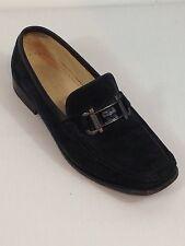 Women's Salvatore Ferragamo Horsebit Buckle Black Loafers Moccasins 6.5 B