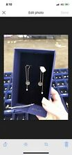 Swarovski Rose Gold Dangle / Drop Long Earrings Designer Genuine Gift Box Tags