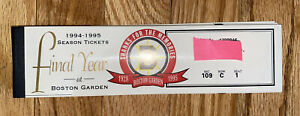 Boston Bruins 1994-1995 Season Tickets Book Not Punched, games 1 - 17 Bobbby Orr