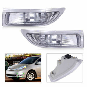 Fits TOYOTA SIENNA 2004 2005 Front Fog Lamp Pair Driving Light Durable Portable