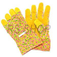 Suede 2 X Ladies Womens Floral Gardening Garden Gloves General Working Gloves