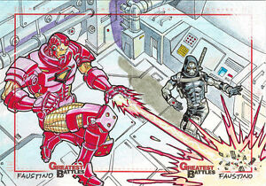 Rittenhouse Marvel Greatest Battles 2013 Sketch Card Puzzle by Jim Faustino