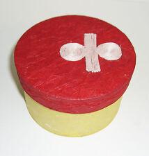 Geschenk - Schachtel / Box Rund rot-gelb Ø11 x 7 cm - Verpackung