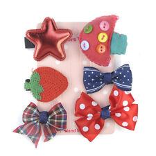 1Set 6pcs Hairpin Baby Girl Hair Clip Bow Flower Mini Barrettes Star Kids Infant