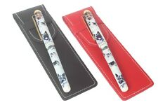 More details for norwegian elkhound dog pen with a choice of red or black pen case perfect gift