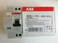 ABB 10A RCBO Circuit Breaker MCB DS951 C10 30MA AC over current protector x5