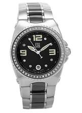 ESQ by Movado Women's Bali Diamond Stainless Steel Black Ceramic Watch 07101265