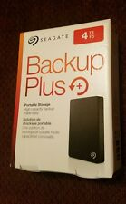 Seagate Backup Plus 4TB Portable External Hard Drive USB 3.0 Black STDR4000100