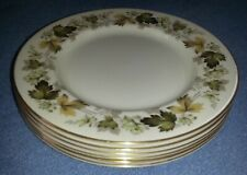 Set 3x 1950s Royal Doulton Larchmont TC1019 China Porcelain Dinner Dining Plates