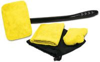 Auto Glass Cleaner Wiper Kit For Car Vehicles Interior Exterior Windshields