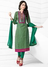 Radiant Cotton Dress Material with chiffon dupatta with Printwork D.NO MK6401