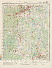 Russian Soviet Military Topographic Map – SIGULDA (Latvia),1:50 000, ed. 1983