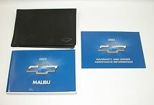 2002 Chevrolet Malibu Factory Owners Manual Portfolio