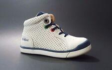 New KICKERS Baby Boys Toddler Shoes LEATHER White Size 6 USA/22 EURO.FREE RETURN