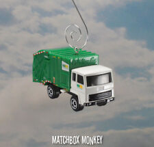 White Garbage Trash Refuse Truck Custom Christmas Ornament Waste Management