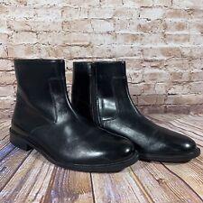 Nunn Bush Norwich Zip Up Boots Mens Size 10.5 M Black Leather 84527 Shoes