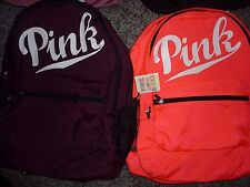 VICTORIAS SECRET PINK NEW FULL SIZE LARGE BACKPACK ZIP BOOK LAPTOP NWT