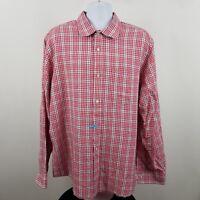 Banana Republic Men's Red Black Plaid Check L/S Casual Button Shirt Sz 2XL XXL