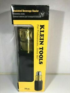 NEW KLEIN TOOLS 98005 INSULATED BEVERAGE HAULER THERMOS BOTTLE SCREWDRIVER 24OZ