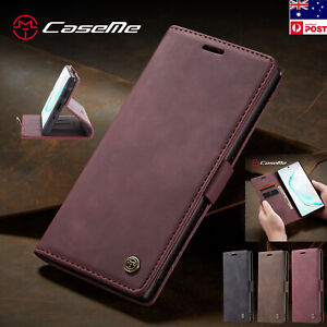 Samsung Galaxy S10 Note 10+ Plus A20 A30 A50 A70 Leather Stand Wallet Case Cover