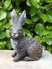 Highly Detailed Cast Stone Large Rabbit Garden Ornament Statue 24cm