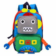 TeMan Children Backpack Kindergarten Cartoon Schoolbag for Kids Green Robot