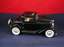"Very Nice 7"" Franklin Mint 1932 Ford Deuce Coupe 1:24 Black"