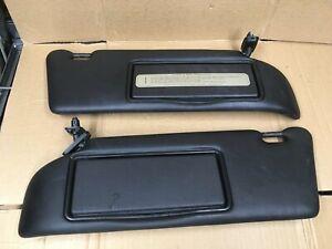 Mercedes W140 Sun Visors Set Black OEM 300SE 500SE 600SEL S320 S420 S500 92-99