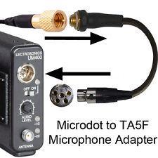 COUNTRYMAN DPA MICRODOT MICROPHONE ADAPTER FOR UM LM IM M LECTROSONICS 5 PIN XLR